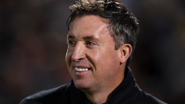 Starting as he means to go on: Brisbane Roar coach Robbie Fowler.