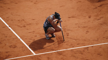 Australia's Ashleigh Barty conquers the clay.
