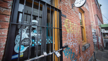 Jimmy Grants in Fitzroy was closed on Monday.