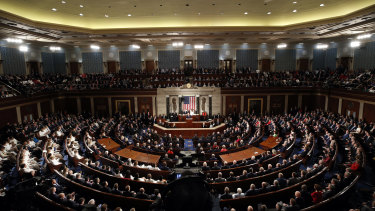 US President Donald Trump delivers his State of the Union address.