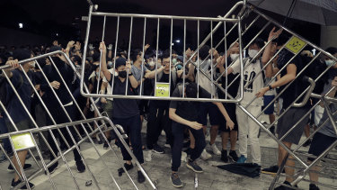 The mass protests against extradition laws later saw protesters clash with police at the Legislative Council in Hong Kong.