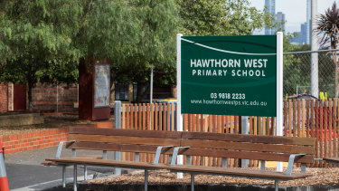 Hawthorn West Primary School opened on Monday in accordance with advice from health authorities.