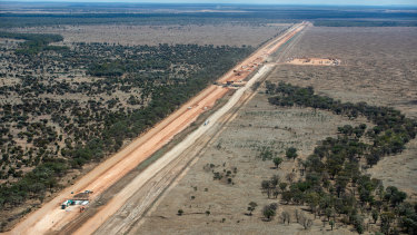 Adani's Carmichael coal mine west of Clermont in central Queensland.