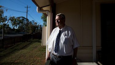 Solicitor Geoffrey Langford at his office in Cobar.