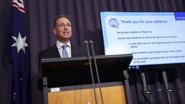 Health Minister Greg Hunt said people should be patient as not everyone could be vaccinated in week one.
