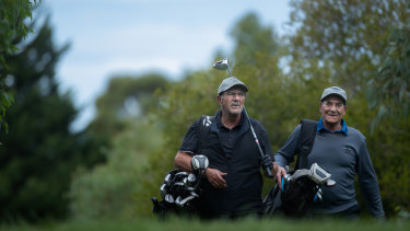 Avid Golfers Michael Alfonzetti and Cam Ingrisciano have been playing golf together twice a week for over 20 years.