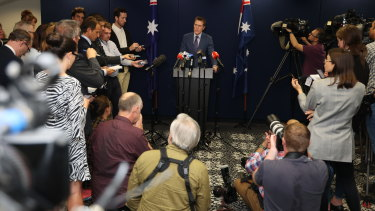 Attorney-General Christian Porter put his public defence at a press conference in Perth this week.
