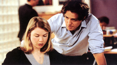 Hugh Grant as you thought you knew him ... with Renée Zellweger in Bridget Jones's Diary.