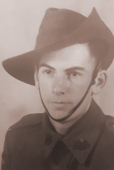 Keith English as an 18-year-old soldier