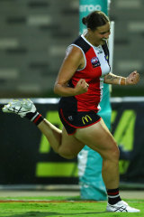 Caitlin Greiser kicked three goals for St Kilda.