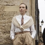 Villanelle channels university chic when she tracks down Eve's husband at Oxford in season two.