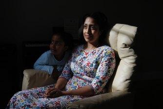 Kavita Enjeti at home this week with her daughter Tara.