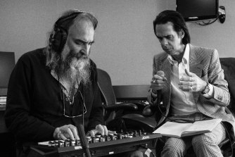 """Warren Ellis (left) and Nick Cave created new album Carnage during an """"accelerated process of intense creativity,"""" says Ellis."""