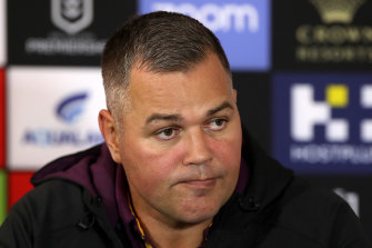 Anthony Seibold was the target of false online rumours while still at the Broncos.