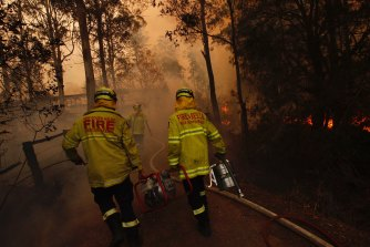 Fire and Rescue NSW firefighters on the Mid North Coast during the week.