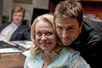 Writer-director David Michod with Jacki Weaver on the set of Animal Kingdom in 2009.