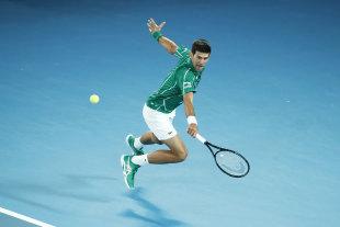 Novak Djokovic en route to another Australian Open title.