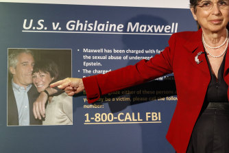 Audrey Strauss, acting US attorney for the Southern District of New York, at a news conference to announce charges against Ghislaine Maxwell in July.
