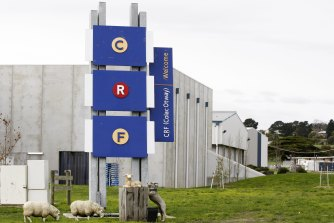 An old photo of what used to be the CRF Abattoirs in Colac. The Australian Lamb Company purchased the site in 2013.