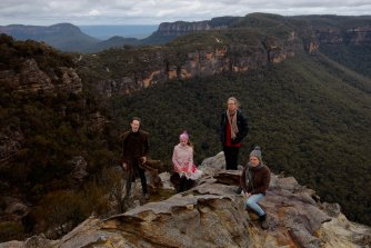 More than 12,000 Blue Mountains residents signed a petition opposing the commercialisation of Katoomba airstrip. From left: Max Horn, Veda Horn, Anne Ingham and Denise Thompson.