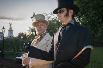 With David Tennant in Good Omens.