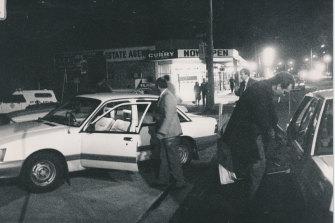 Police hunt for the gunman in Springvale.