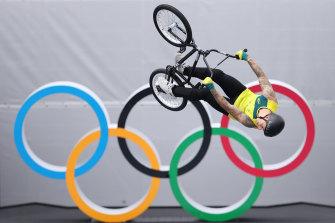 Logan Martin will start favourite in the men's BMX freestyle final.