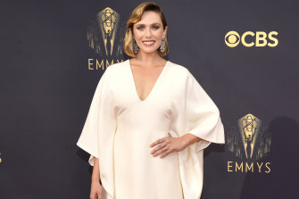 Elizabeth Olsen wearing The Row at The Emmys.