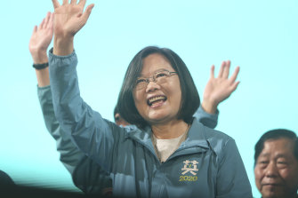 Taiwan's President Tsai Ing-wen on the campaign trail.