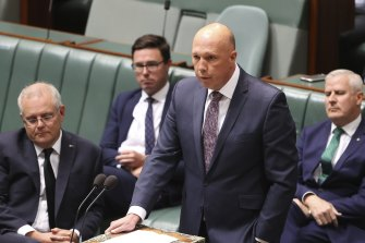 Minister for Defence Peter Dutton has defended the hotel model.