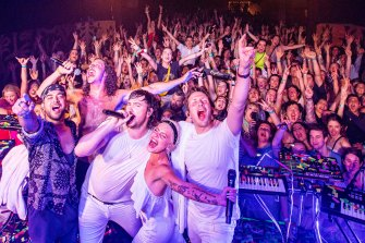 Peking Duk performing at The Espy on Sunday night to raise funds for firefighters.