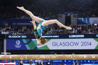 Olivia Vivian at the 2014 Glasgow Commonwealth Games.