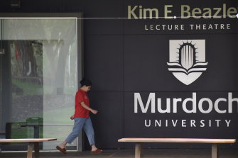 Murdoch University's largest lecture hall, named after one of the state's biggest political figureheads, no longer hosts course lectures.