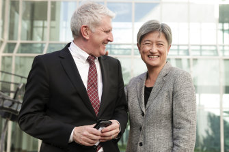 Shadow Minister for Employment Brendan O'Connor and Labor's Senate Leader Penny Wong after the bill was defeated.