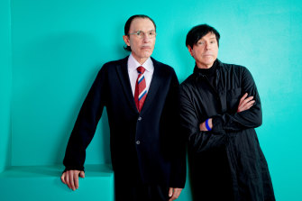 Ron and Russell Mael, aka Sparks.