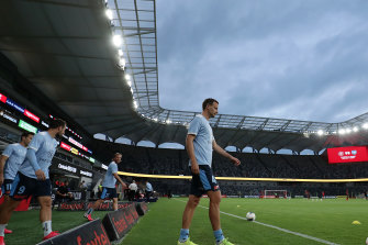 'He leads by example': Sydney captain Alex Wilkinson has been the pillar of the Sky Blues' success.