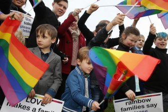 Families campaigned for same-sex marriage.