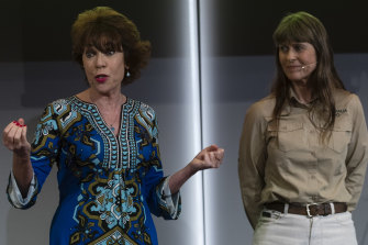 "Kathy Lette and Terry Irwin give their explanation of Australian ""philausophy"" at Wednesday's Tourism Australia campaign launch."