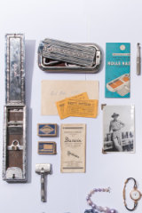 Within the box were antique safety razors, as well as movie tickets from 1895.