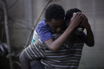 Yared Scott and Mandela Mathia play son and father in Williams' award-winning short film.