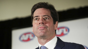 AFL chief executive Gillon McLachlan at an event in Parliament House in August.