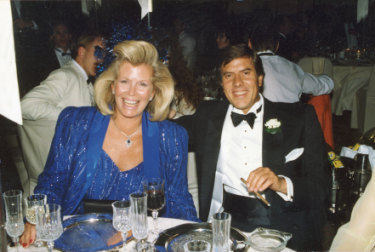 Happier times: the late Christopher Skase with wife Pixie in the 1980s.