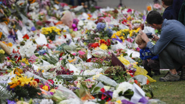 A steady stream of mourners paid tribute to the 50 people slain by a gunman at two mosques in Christchurch.