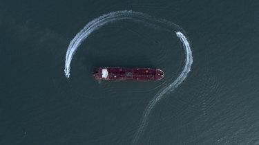 Iranian Revolutionary Guard speedboats surround the Stena Impero on July 21.