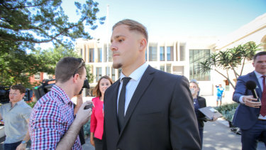 Charged: St George Illawarra and NSW star Jack de Belin's playing future will be determined at the ARLC's annual general meeting.