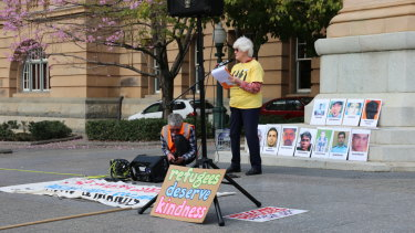 Speeches were made at Queen's Gardens in Brisbane's CBD.