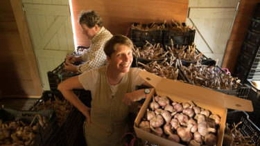 Kirsten and David Jones created the Meeniyan Garlic Festival.