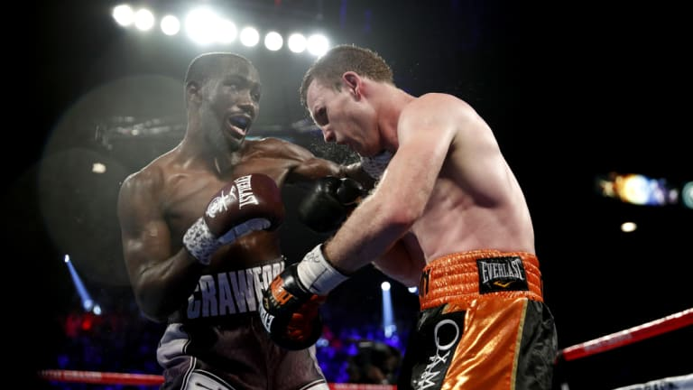Punishment: Terrance Crawford outclassed Jeff Horn in Las Vegas.