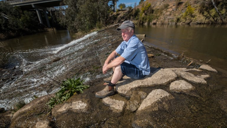 Mr Wallace and others with licences to divert water from the Maribyrong have been warned against doing so due to the detection of PFAS.