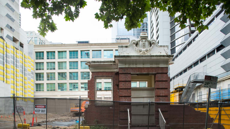 The site where the Tuberculosis Bureau is being demolished, pictured on December 28.